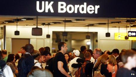 UK Border control queues