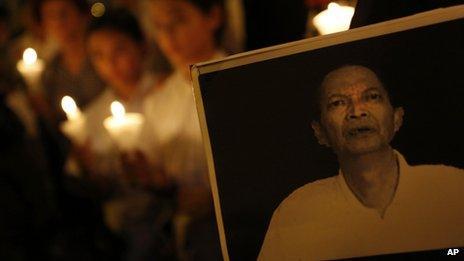Candlelit vigil for Li Wangyang, Hong Kong (13 June)