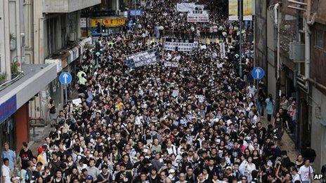Protest in Hong Kong over Li Wangyang's death (10 June 2012)