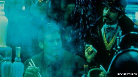Harrison Ford in a scene from Blade Runner
