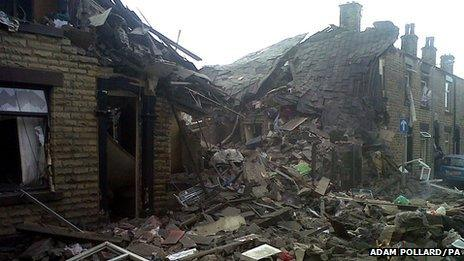 Damage from the blast