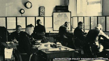 Scotland Yard information room in the late 1930s