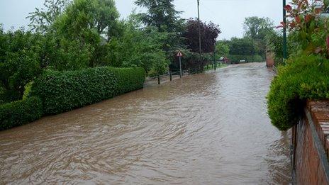 Flooding in Lambley