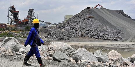 Diamond mine in Koidu