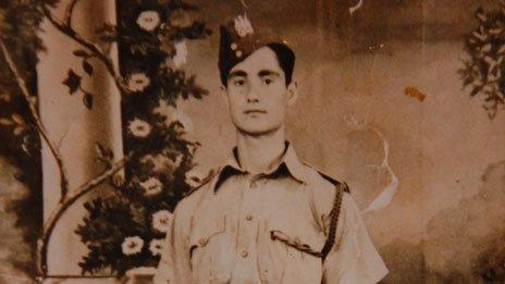 Abed Saleh Abu Gosh as a young man