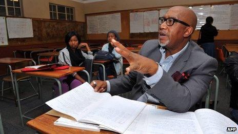 """Sipho """"Hotstix"""" Mabuse at school (22 July 2012)"""