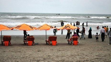 A beach in Cox's Bazar