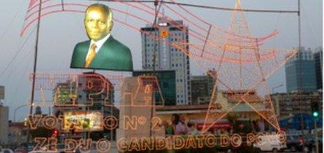 Election hoarding in Luanda