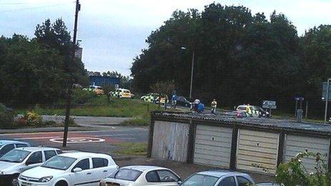 Police cars in Cwmbran