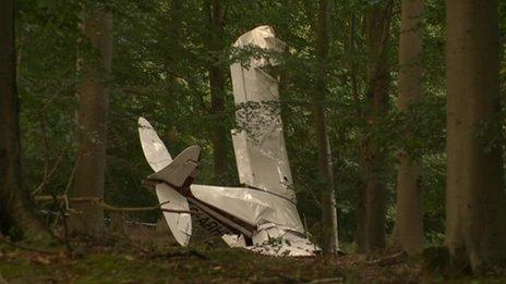 The aircraft following the crash