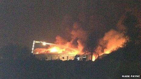 Real Crisps factory on fire - image Mark Payne
