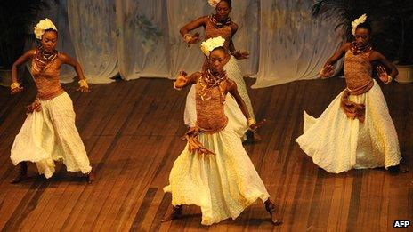 Dance performance at the National Cultural Centre in Georgetown