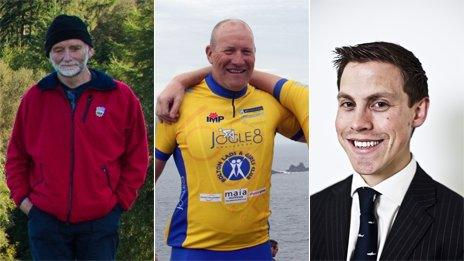 Stephen Holding (courtesy Bremex Mountaineering and Climbing Club), Vincent Kelly (PA) and Benjamin Ogden (courtesy Allen & Overy)
