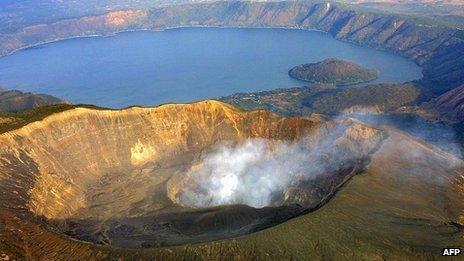 The Ilamatapec volcano in front of Lake Coatepeque