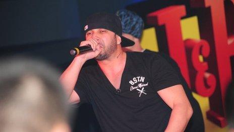 Bulgarian rapper Big Sha performing (Image: Misho Shamara)