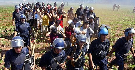 Police arrest land invaders