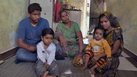 Naresh Jatav and family