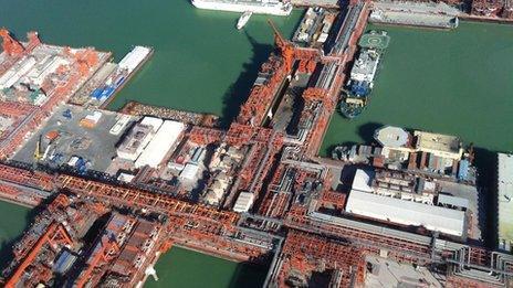 Kazakhstan's giant offshore oil field in the Caspian Sea - Kashagan