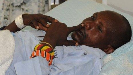 Injured police officer in hospital