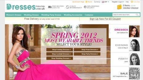 Dresses Online website