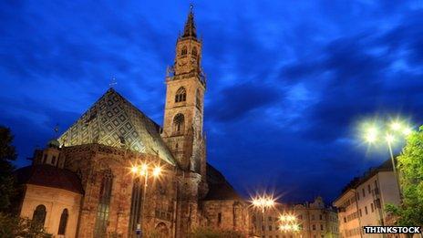 A church in Bolzano, South Tyrol, Italy