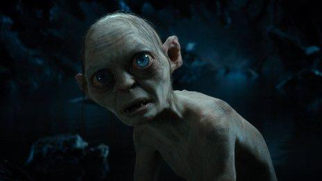 Actor Andy Serkis as Gollum
