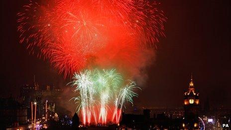 Fireworks at Edinburgh