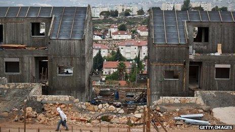 Housing construction at Ariel settlement in West Bank