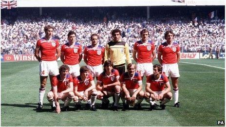 England 1982 World Cup team