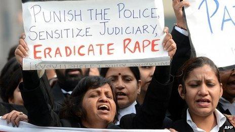 Anti-rape protest in Delhi on 3 Jan 2012