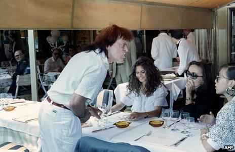 Klaus Kinski at the 1988 Cannes film festival