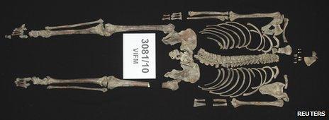 Skeleton of Ned Kelly