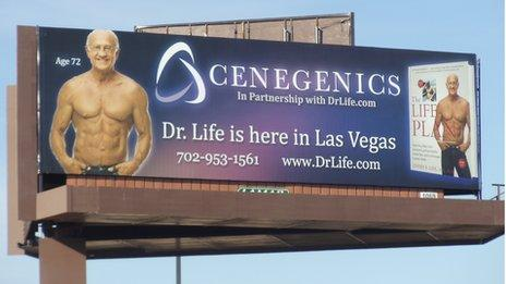 Dr Life on a billboard in Las Vegas