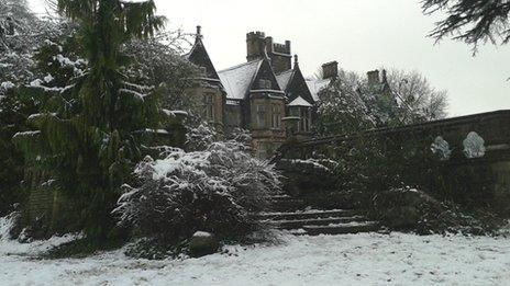 Insole Court in the snow