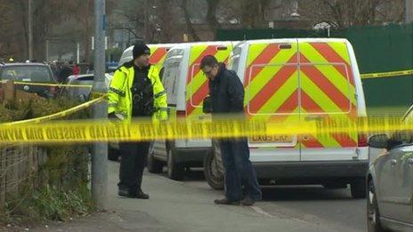 Police investigation in Bryn Hafod, Wrexham