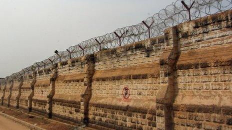The wall of Juba jail