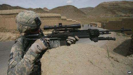 File image of US soldier in Wardak province, Afghanistan