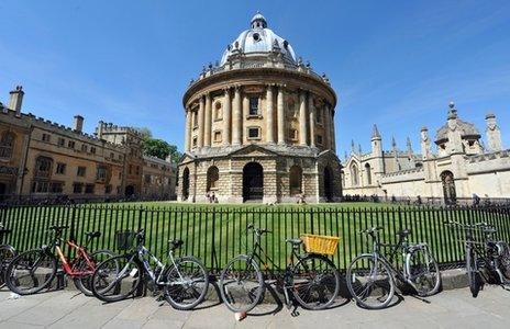 The Radcliffe Camera is a building at Oxford University