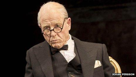 Winston Churchill (Edward Fox) in The Audience. Photo: Johan Persson