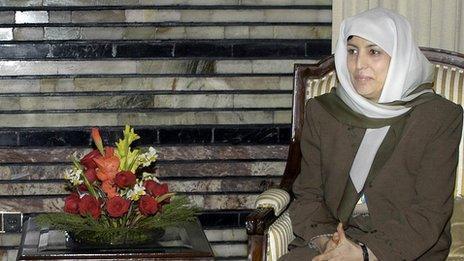 Zinat Karzai at the presidential palace in Kabul