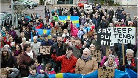 Campaigners turn out in support of the closure-threatened Tenby Minor Injuries Unit