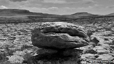 Rocky landscape of The Burren