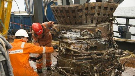 F-1 engine on board Seabed Worker