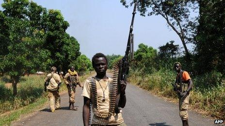 Seleka rebels in Central African Republic (10 January 2013)