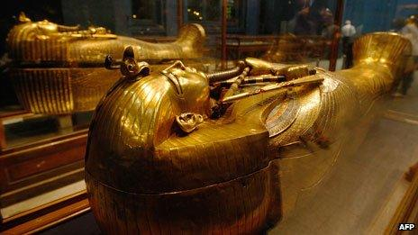 One of Tutenkhamen's sarcophagi