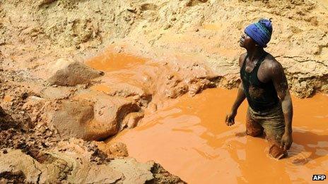 Gold mine in Bunia