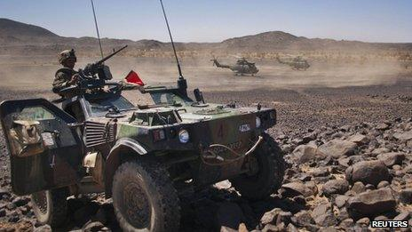 French troops in Mali, March 2013