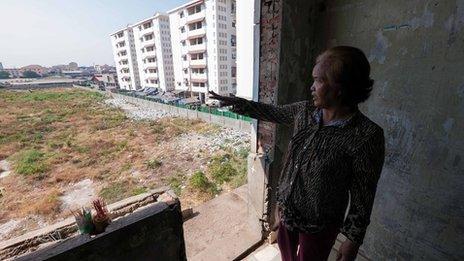 Tim Sakmony looks over Borei Keila development site
