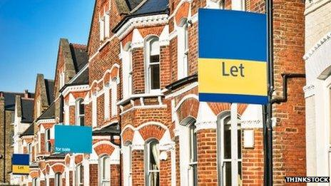 Houses with Let sign