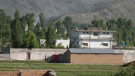 The fortified compound on the outskirts of Abbottabad in north-west Pakistan where Osama Bin Laden was captured